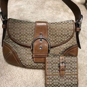 Coach Signature Small Hobo Handbag and Wallet Set